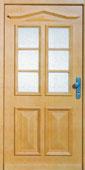 Haustüre aus Holz mit Lichtausschnitt von Schreinerei FÄTH