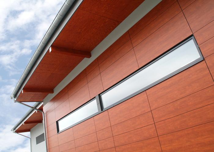 Referenz Holzaluminiumfensterarbeiten an Sporthalle Kurt-Schuhmacher-Schule in Reinheim von Schreinerei FÄTH