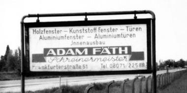Firmengeschichte Adam Fäth von Schreinerei FÄTH