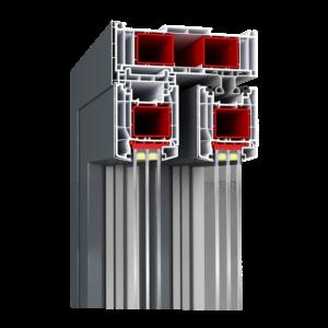 Hebeschiebetür 85 mm Zargenarmierung Kunststofftüre von Schreinerei FÄTH