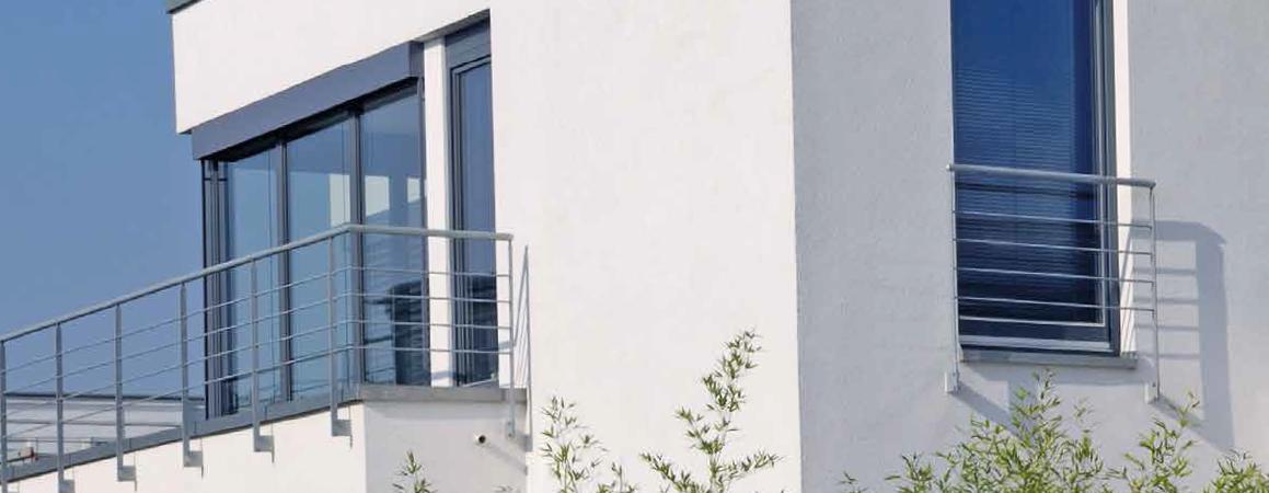 IDEAL 8000® - Objekt graue Kunststofffenster von Schreinerei FÄTH